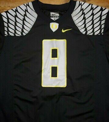 U Of O Ducks (University of Oregon Ducks Football jersey by Nike Youth L Black UO U of O)