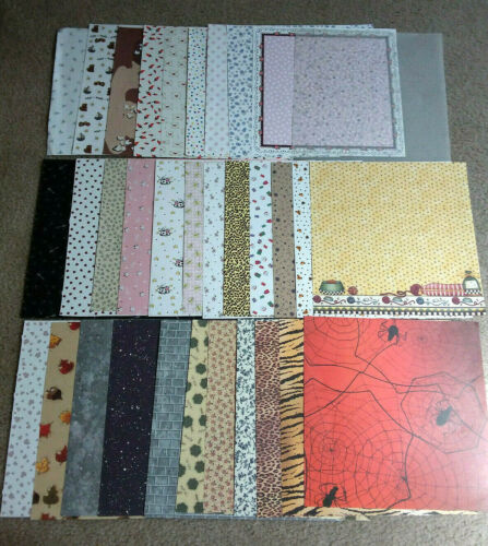 "12"" x 12"" Scrapbooking Craft Decorative Paper Lot - 35 Assorted Designs"