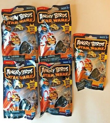 ANGRY BIRDS STAR WARS SERIES 1 BLIND BAG LOT of 5 PACKAGES TOY HASBRO Christmas - Angry Birds Blind Bags
