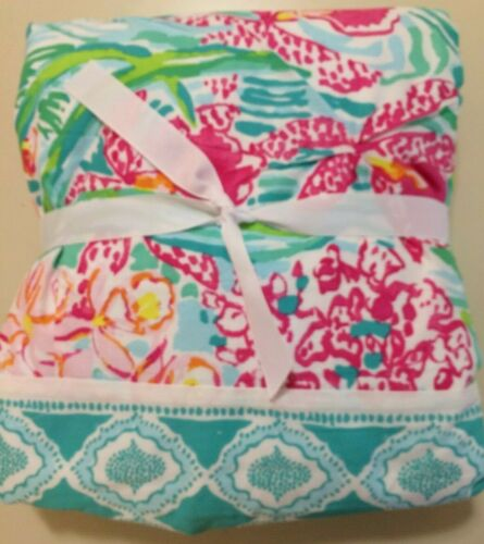 pottery barn teen lilly pulitzer organic orchid border duvet cover king