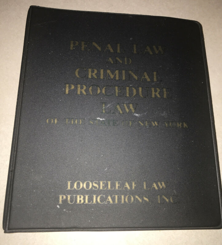 Penal Law And Criminal Procedure Law Looseleaf Law Publications Isbn#0-930137108