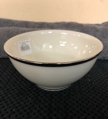 "Lenox Solitaire Rice Bowl Fine Bone China 6""(15.24cm) Made In USA NWT Bone China Rice Bowl"
