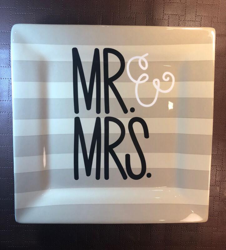Coton Colors Mr. & Mrs. Square Plate