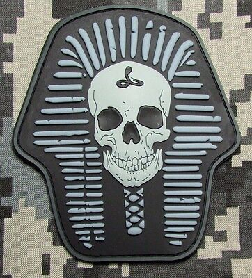 DEATH SKULL SKELETON KING 3D PVC RUBBER ACU LIGHT USA ARMY VELCRO® BRAND PATCH