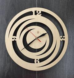 Contemporary Modern Unique Wooden Wall Clock Wall Art Silent Wall Clock CL-0017.