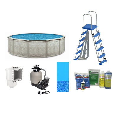 Cornelius Pools Above Ground Pool w/ Liner, Skimmer, Chemicals, Ladder, & More