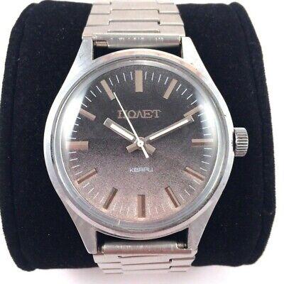 Soviet POLJOT Quartz watch With Original Band Serviced VGC+ *US SELLER* #1123