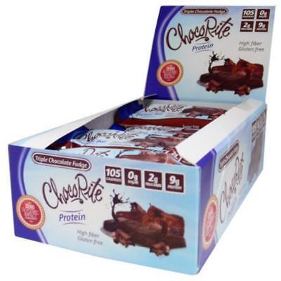 Bar Triple Chocolate (ChocoRite Triple Chocolate Fudge Protein Bar 34g (Box of 16))