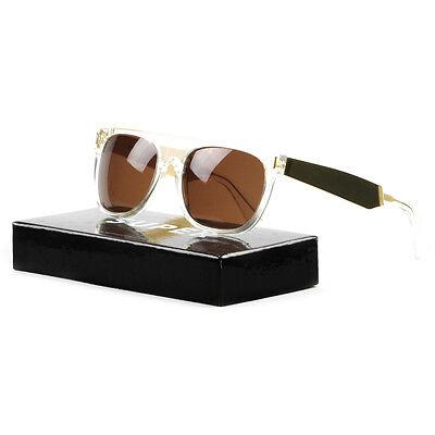 RETROSUPERFUTURE Super Flat Top Sunglasses 893 Gold Francis Crystal / Brown (Super Sunglasses Italy)