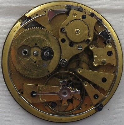 (Repeater Key Wind Pocket watch movement & dial 51,5 mm in diameter repeater work)