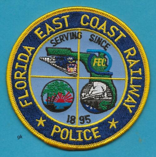 FLORIDA FL EAST COAST RAILWAY  POLICE SHOULDER  PATCH