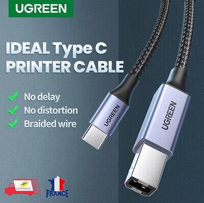 Câble USB C Mâle vers USB Type B 2.0 Mâle Cordon Imprimante...