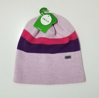 Bula Suia William Womens Pink Purple Stripe 100% Acrylic Knit Beanie Hat NEW