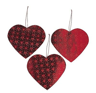 Valentine Heart Cut Out Decorations (12 Pack) 5 3/4