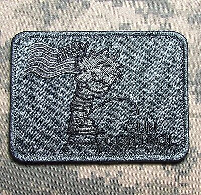 PISS ON GUN CONTROL US SECOND 2ND AMENDMENT 3% NRA  ACU DARK VELCRO MORALE PATCH