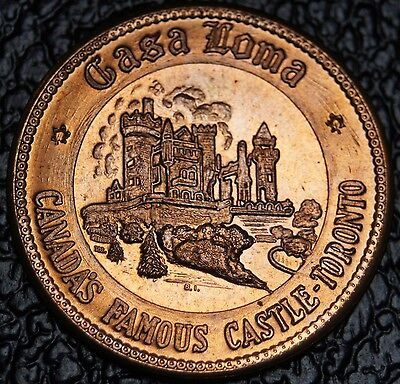 CANADA'S FAMOUS CASTLE - CASA LOMA - Toronto - DOUBLOON TRAVELLERS CHARM - NCC