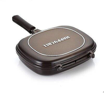 Happycall Double Sided Pan Big Size Jumbo Grill Pressure Frying Pan