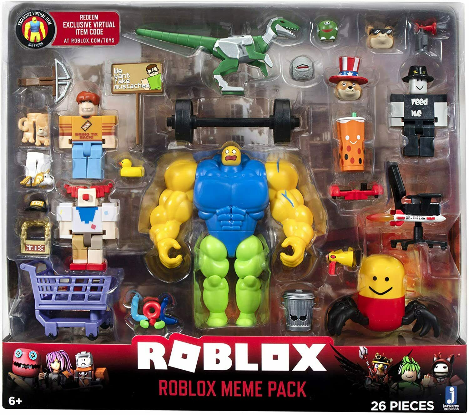 Roblox Action Collection - Meme Pack Playset Pack with Exclu
