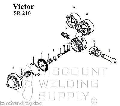 Rebuild Kit-victor Sr210 Acetylene Regulator- Fuel Gas Reg Repair Av210rk
