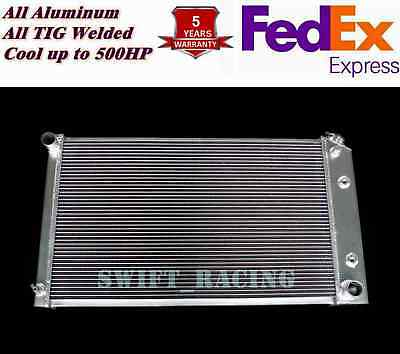Fit 1971 86 Chevy GMC Trucks 3 Rows all aluminum radiator w26 wide core