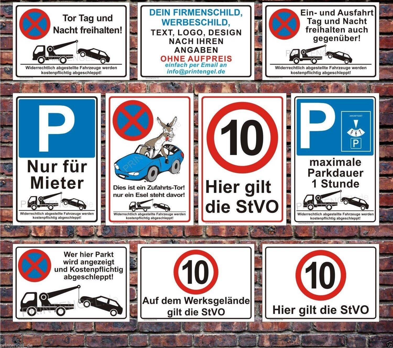 schild parken verboten parkverbotsschild parkplatz schilder warn hinweisschilder eur 11 49. Black Bedroom Furniture Sets. Home Design Ideas