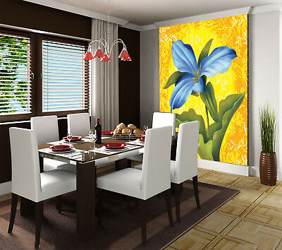 3D Blaue Blumen Malerei 88 Tapete Wandgemälde Tapete Tapeten Bild Familie DE