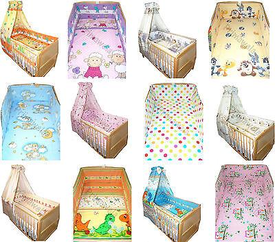 6-tlg Bettset Baby Kinder Bettwäsche  mit 420 cm rundum Nestchen für Bett 70x140