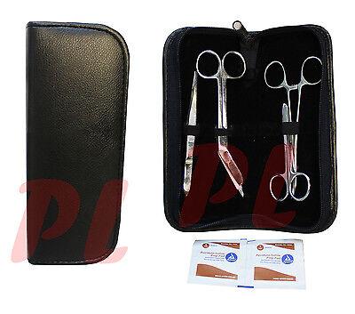 7 Pc Wound Kit Medic Surgical Minor Surgery Instrument Scissor Forceps