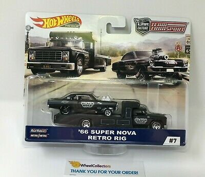 '66 Super Nova & Retro Rig * 2019 Hot Wheels Team Transport Car Culture D Case (Rig Transporter)