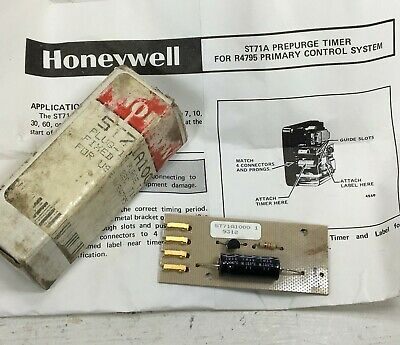 Honeywell R4795 Plug-in Purge Timer 7 Sec. For Prim Control System St71a1000