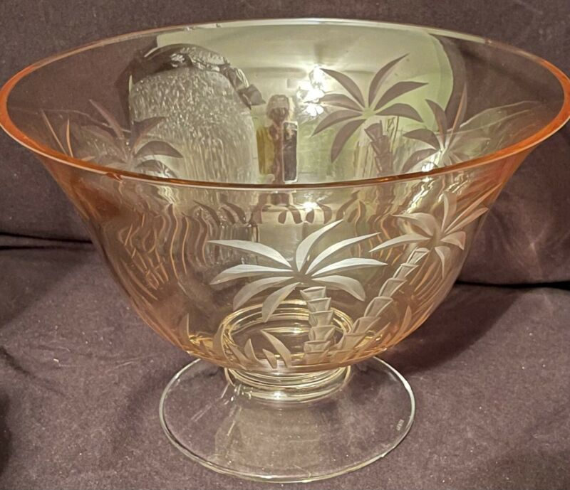 Lenox British Colonial Footed Gold Crystal Centerpiece Bowl Sell As Is