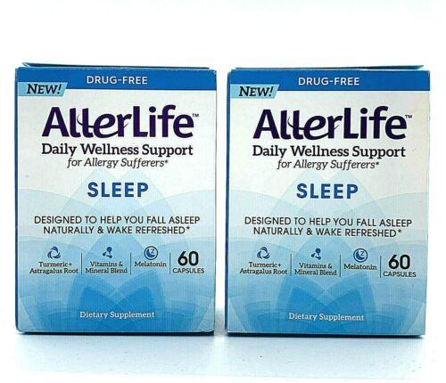 2 AllerLife Sleep Capsule Daily Dietary Supplements & Sleep Support 60 Count ea