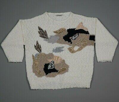 80s Sweatshirts, Sweaters, Vests | Women Vintage 80s Katies Patchwork Knit Sweater Jumper Oversized Size 14 $25.98 AT vintagedancer.com