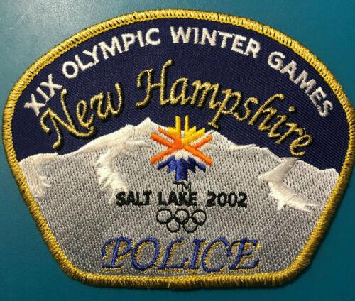 New Hampshire NH Utah Salt Lake Olympics 2002 Winter Games Police Sheriff Patch