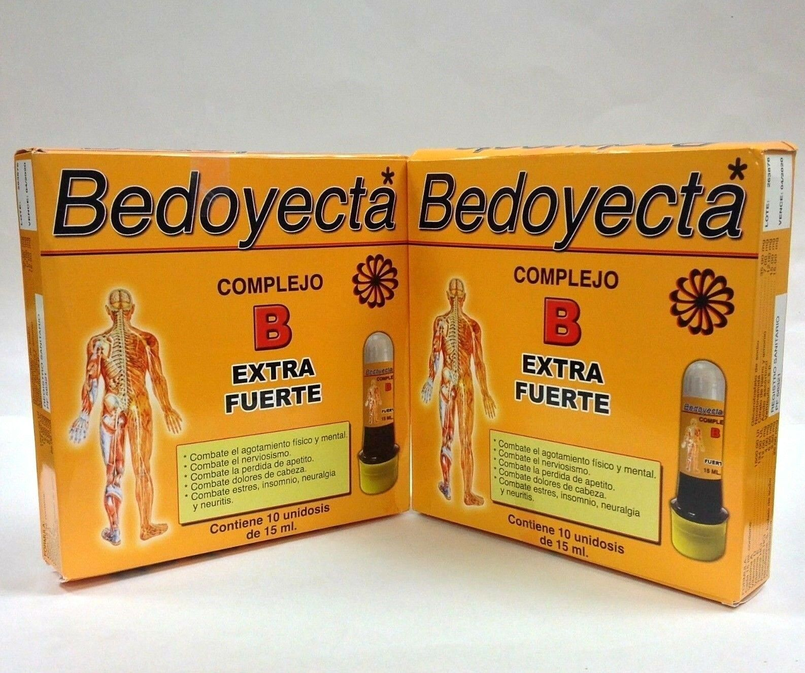 2 BEDOYECTA COMPLEJO B EXTRA STRONG DRINKABLE - 10 Bottles 15ml/each
