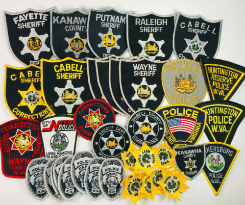 West Virginia Police & Sheriff 39 Patches Lot