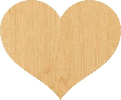 Shape Cut Out - Heart 3 Laser Cut Out Wood Shape Craft Supply - Woodcraft