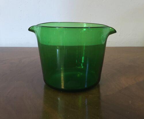 Antique Georgian Crystal Green Blown Glass Wine Rinser 19th c. Polished Pontil