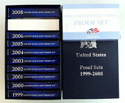 1999-2009 State Quarters Proof Sets