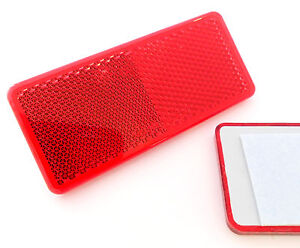 2x-Self-Adhesive-Red-Oblong-Rectangular-Trailer-Caravan-Rear-Reflectors-90x40mm