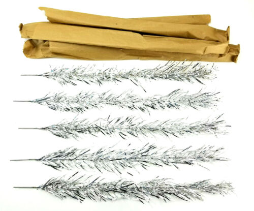 """5 Vintage Aluminum Silver Christmas Tree Swirl Twist Branch 24"""" Replacement Part"""