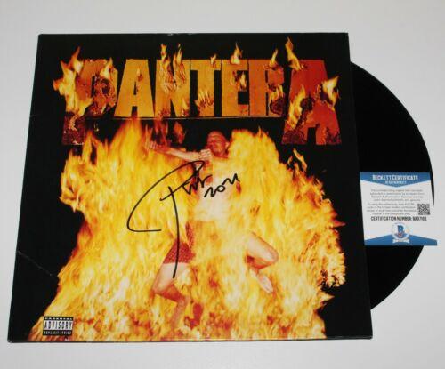 PANTERA PHIL ANSELMO SIGNED REINVENTING THE STEEL ALBUM VINYL RECORD BECKETT COA