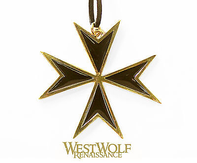 Maltese cross pendantebay 1 black gold maltese cross pendant medievalnecklacecrusadesknight mozeypictures Choice Image