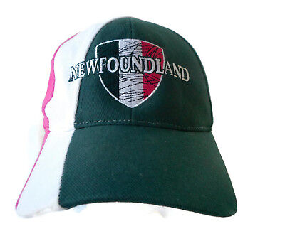 NEWFOUNDLAND CANADA Baseball Hat Cap GREEN WHITE PINK
