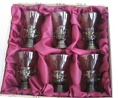 Waldglas Böhmen  Exklusive hochwertige Handarbeit Glas Replika neu 6. Set