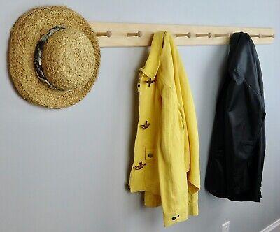 Unfinished Pine Shaker Peg Coat Wall Hat Rack -