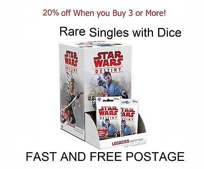 Star Wars Destiny TCG - Legacies - Rare Card Singles with Dice
