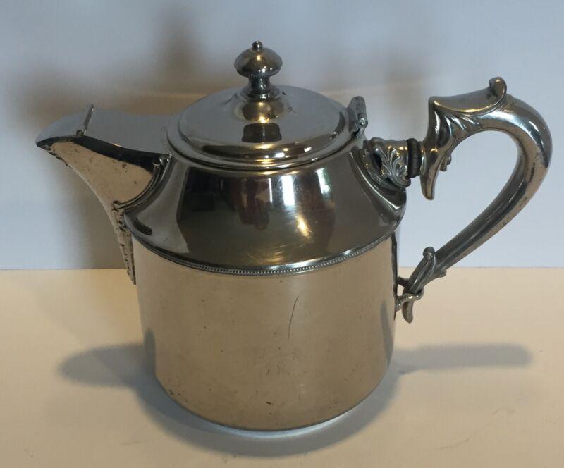 """Manning Bowman & Co Tea Pot 4 Pat'd Jan 24 1899 8"""" Tall"""