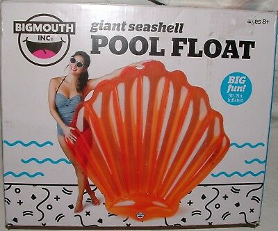 NIB Big Mouth Inc.Inflatable Seashell  Pool Float 5' 2