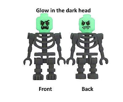 tt Vampir Kopf nachtleuchtend glow in the dark Minifigur Neu (Glow Skelett)